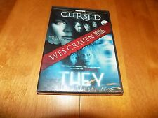 CURSED / THEY Wes Craven Double Feature 2 Horror Fims Rare DVD SET SEALED NEW