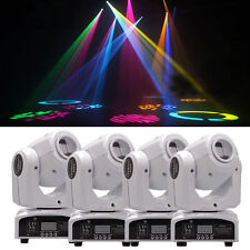 4Pcs 30W RGBW LED Spot Gobos Moving Head Stage Lighting DMX DJ Disco Party Light