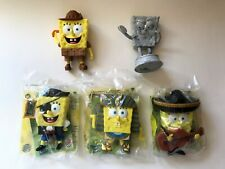 SpongeBob SquarePants Burger King Toys Lost in Time 5 Figure Lot 2005 Pharaoh