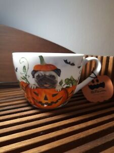 Portobello by Inspire Tasse Jumbotasse 600ml Hund Pumpkin Pug Halloween NEU