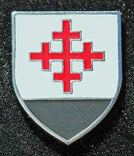 Christian Crusader Mystery Knight Shield Cross Cloisonne Lapel Pin NEW