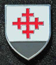 Christian Crusader Templar Mystery Knight Shield Cross  Hat Lapel Pin NEW