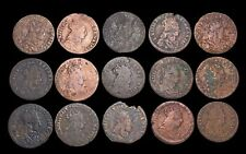 "FRANCE. Louis XIV ""The Sun King"". 1643-1715, Copper Liard, Lot of 15"
