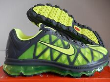 MENS NIKE AIR MAX + 2011 DARK GREY-VOLT SZ 10 [429889-033]