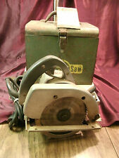 "Vtg Skil Home Shop Saw Model 520 115 Volt 8 amp 5.5"" Circular Saw w/ Metal Case"