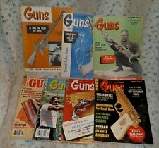 Lot of 7 Guns magazine, 1957 - 1984
