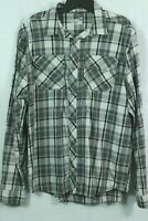 Under Armour Plaid Flannel Shirt Size Large Cotton Patch Pocket Button Front