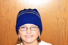 Harry Potter Scarf Ravenclaw  SCHOOL COLORS  Hand Knit Beanie Ravenclaw Hat