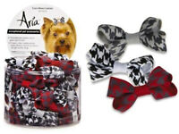 """Aria - Dog Pet Grooming Bow - Canister of 48 bows w rubber band - Coco - 2"""""""
