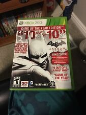 Batman: Arkham City -- Game of the Year Edition Xbox 360 COMPLETE!