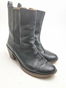 Frye Carmen Cleasea Boots Black Leather Sz 9.5