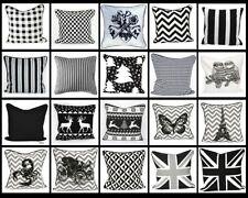 Cuscini nero per la decorazione della casa, 100% Cotone