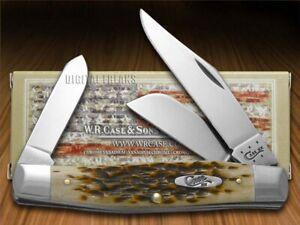 Case xx Large Stockman Knife Jigged Amber Bone Handle CV Pocket Knives 00204