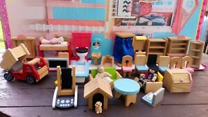 Doll's House, KidKraft Wooden Furniture ,TRUCK & Toilet 🚽 With Flushing Sound