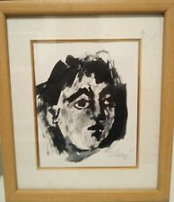 """Antoni Clavé """"Carmen"""" Original Ink Painting Signed From Eisenberg Collection"""