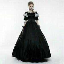 Women Lolita Victorian Gothic Dress Lace Off-shoulder Steampunk Evening Vintage