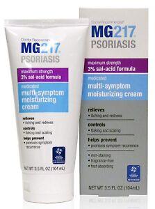 MG217 Psoriasis Cream, 3% Salicylic Acid Multi-Symptom Moisturizing Psoriasis