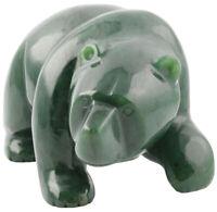 Genuine Natural Canadian Nephrite Jade Walking Bear Figurine - Multiple Sizes