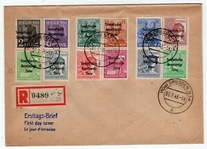 Germany 1948 Soviet Zone - Registered FDC Cover - Overprints on Cover