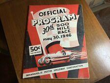 1946 INDIANAPOLIS INDY 500 PROGRAM RACE RACING