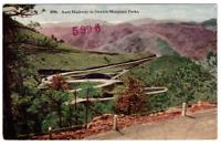 Vintage Postcard Scenery Auto Highway in Denver Mountain Parks Colorado K3