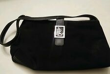 015 LAUREN by Ralph Lauren Small Black purse / handbag Chrome Metal Closure