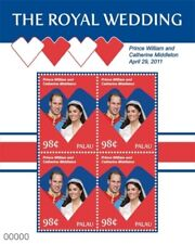 PALAU  2011 - ROYAL WEDDING PRINCE WILLIAM AND KATE MIDDLETON SOUVENIR SHEET MNH