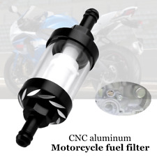 Motorcycle CNC Aluminum Fuel Filter Engine Transparent Tube Removable Filter Kit