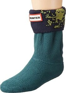 Big Kids Hunter Original Boot Ocean Octopus Cuff Socks Winter Size X-Large (4-6)