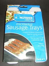 Microwave Sausage Trays - Pack of 3