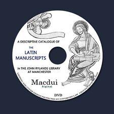 Latin manuscripts in John Rylands Library Manchester Vintage ebooks 2 pdf 1 DVD