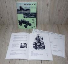 Bedienungsanleitung Deutz Schlepper Traktor D25 D25S Typ 25.1 H1155-3/4