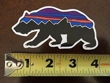 "New Patagonia Fitz Roy logo Bear Sticker - 3+"" long"