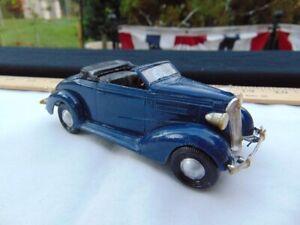 Vintage 1970's Plastic Model Kit Lindberg 1/32 1937 Chevrolet Convertible Built