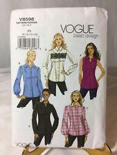 2009 Vogue Basic Design V8598 BB Size 8, 10, 12, 14 Sewing Pattern Uncut Shirt