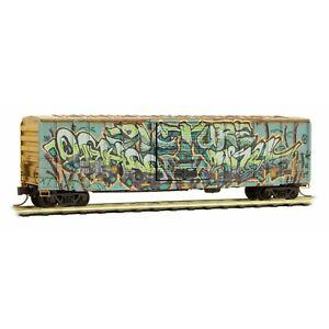 "MICRO TRAINS 025 44 566 "" RAILBOX "" BOX CAR WEATHERED /GRAFFITI(1 PK) NEW*"