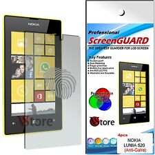 4 Films Opaque Pour Nokia Lumia 520 Antireflet Anti-traces Film Écran