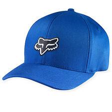 Fox Racing Mens Guys Legacy Flexfit Hat Black Fox Head Logo Ball Cap