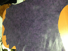 FREE SHIPPING Purple&Black smooth finished Marble Pttrn printed dyed lamb skin