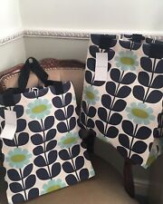 2 X Tesco ORLA KIELY Large Jute Floral Shopping Bag -BNWT - Limited Edition