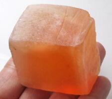 492Ct Natural Orange Selenite Gypsum Crystal Facet Rough Specimen Brazil YOG8