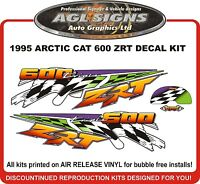 1997 ARCTIC CAT ZRT 600 DECAL KIT , REPRODUCTIONS GRAPHICS
