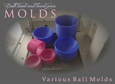 UK 3D Printed Bath Bomb Mold - Various round sized hand press moulds