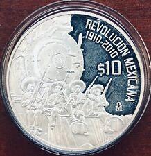 """2010 2oz silver """"Railroad """"Treasure Coin of Mexico ™""""MEXICO"""