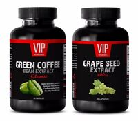 Fat loss capsules - GREEN COFFEE CLEANSE – GRAPE SEED EXTRACT COMBO - greens
