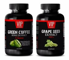 Antiaging vitamin - GREEN COFFEE CLEANSE – GRAPE SEED EXTRACT COMBO - grape seed