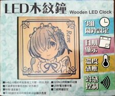 Re: Zero Rem and Emilia Wood LED clock Taiwan Animate Exclusive NEW