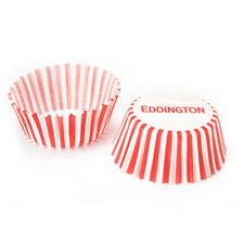 100 x Eddingtons Small Mini Paper Fairy Cake Cupcake Muffin Cases Red Stripes