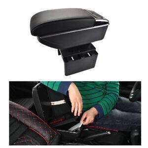 Dual Layer Universal Armrest Arm Rest Centre Console Black Cup Holder Car