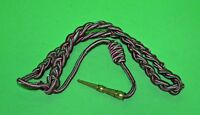 Fourragere French WWII green & red  shoulder cord/aiguillette with brass tip